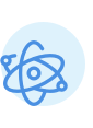 A blue icon showing an atomic symbol.