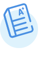 A blue icon showing an A plus graded paper.