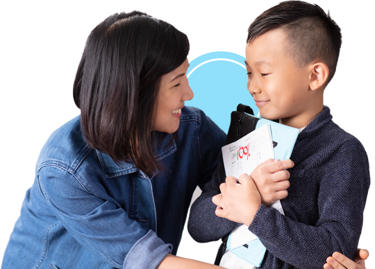 Kumon student and instructor